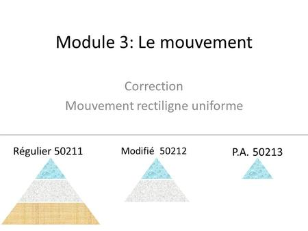 Correction Mouvement rectiligne uniforme