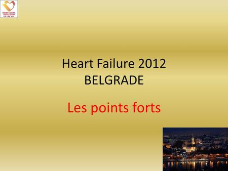 Heart Failure 2012 BELGRADE