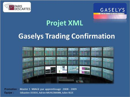 Gaselys Trading Confirmation