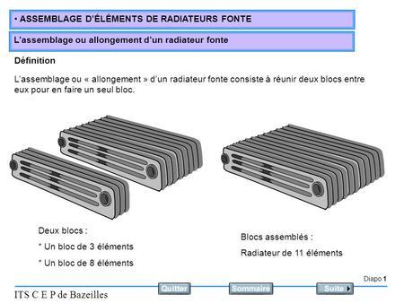 Types de radiateurs fonte ppt video online t l charger - Puissance d un radiateur en fonction du volume ...