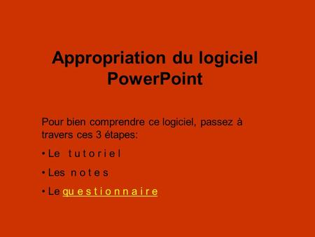 Appropriation du logiciel PowerPoint