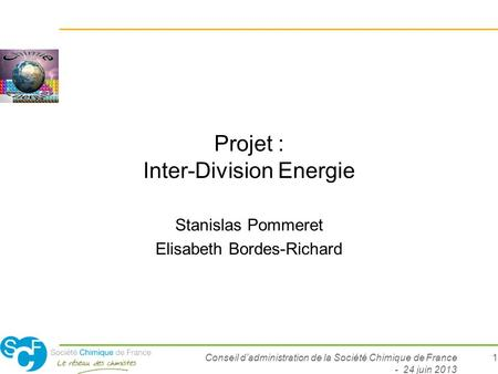 Projet : Inter-Division Energie