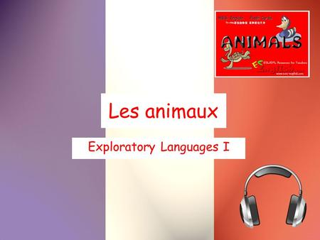 Les animaux Exploratory Languages I. un âne hi-han.