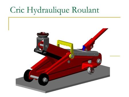 Cric Hydraulique Roulant