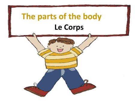 The parts of the body Le Corps.