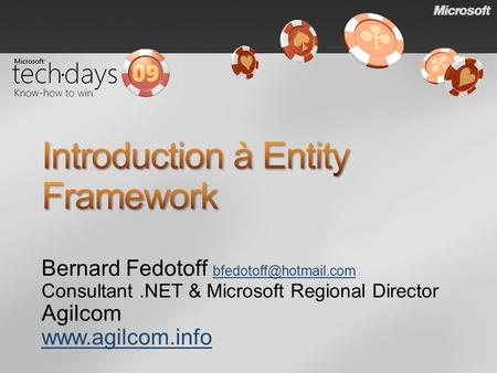 Introduction à Entity Framework