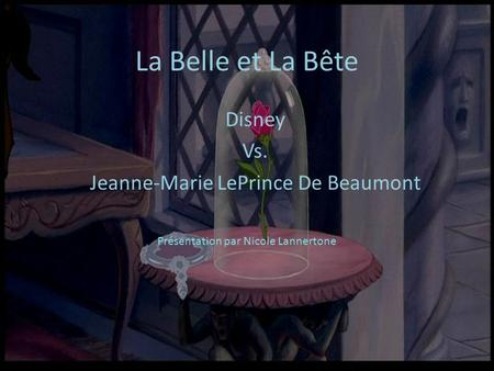 Disney Vs. Jeanne-Marie LePrince De Beaumont