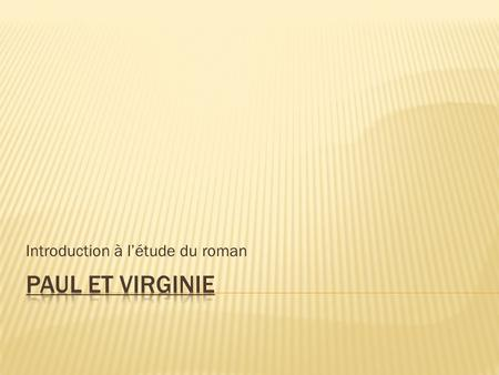 Introduction à l'étude du roman