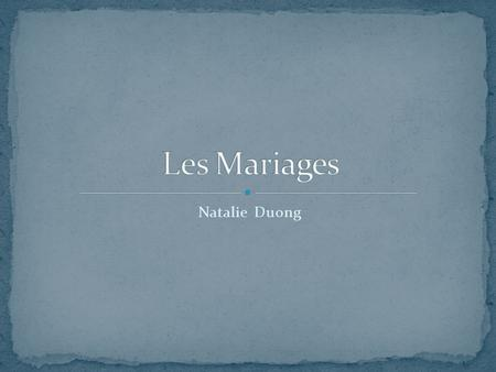 Les Mariages Natalie Duong.