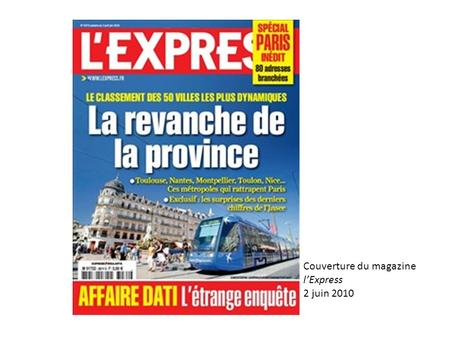 Couverture du magazine l'Express