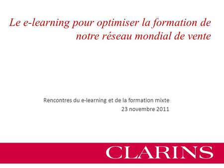 Rencontres du e-learning et de la formation mixte 2017
