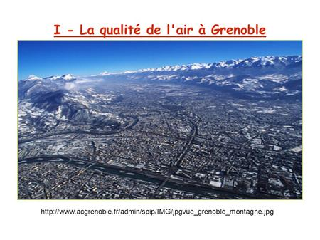 I - La qualité de l'air à Grenoble