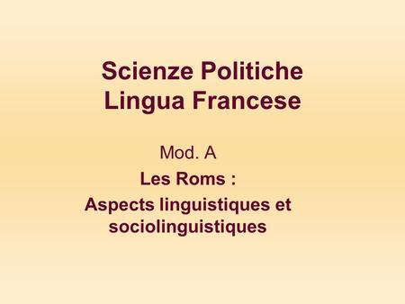 Scienze politiche lingua francese mod a propos de for Test scienze politiche
