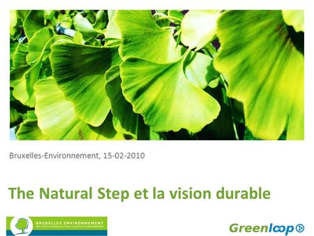 The Natural Step et la vision durable Bruxelles-Environnement, 15-02-2010.