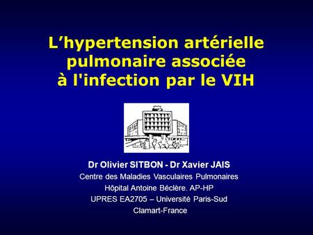 L'hypertension artérielle pulmonaire associée à l'infection par le VIH