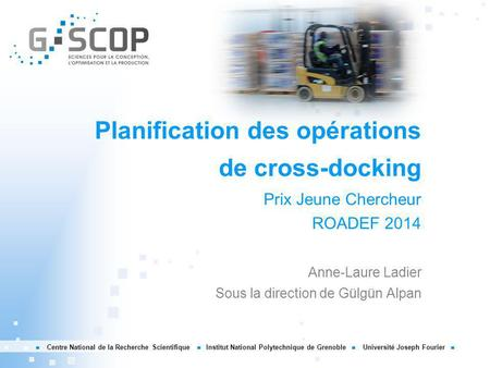 Planification des opérations de cross-docking