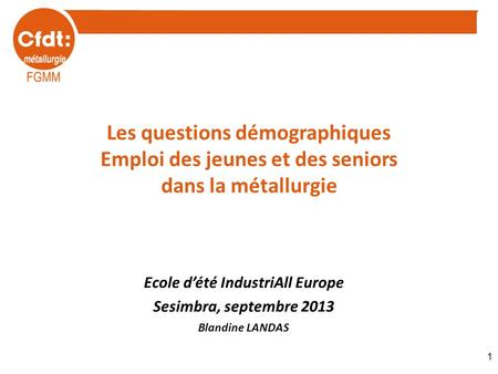 Ecole d'été IndustriAll Europe
