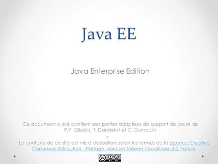 Java Enterprise Edition