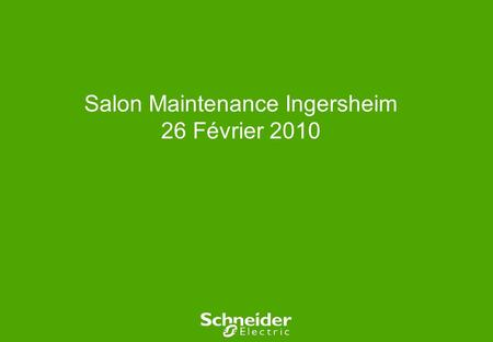 Salon Maintenance Ingersheim 26 Février 2010