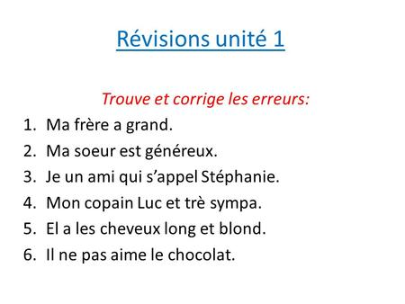 Notes le 13 octobre r vision les verbes r guliers en ir for Porte french conjugation