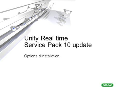 Unity Real time Service Pack 10 update Options dinstallation.