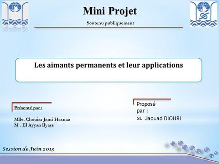 Les aimants permanents et leur applications