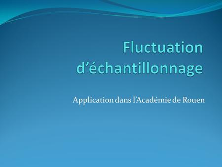 Fluctuation d'échantillonnage