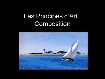 Les Principes d'Art : Composition
