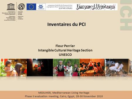 Inventaires du PCI Fleur Perrier Intangible Cultural Heritage Section