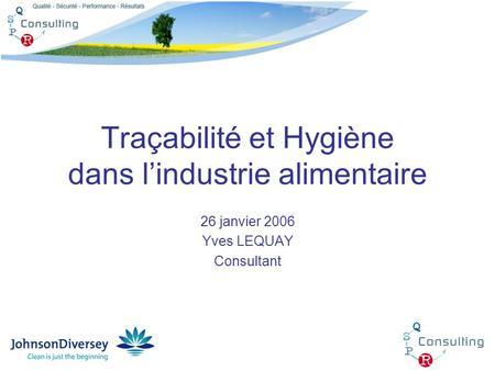 Hygiène dans l'industrie alimentaire pdf