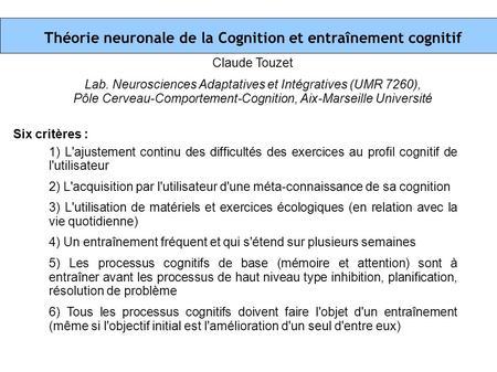 8emes rencontres de neurologie comportementale
