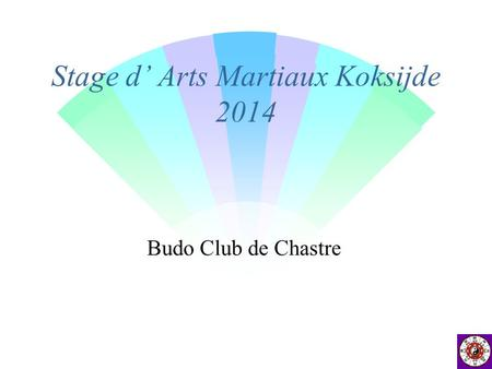 Stage d' Arts Martiaux Koksijde 2014