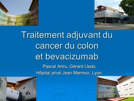 Traitement adjuvant du cancer du colon et bevacizumab