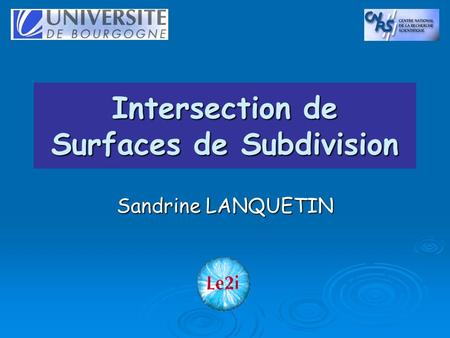 Intersection de Surfaces de Subdivision