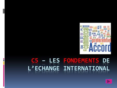 I – Les flux internationaux de biens & de services A - La structure du commerce mondial = 18 902 milliards de $ en 2010.