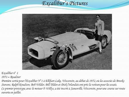 Excalibur's Pictures Excalibur n° – Roadster