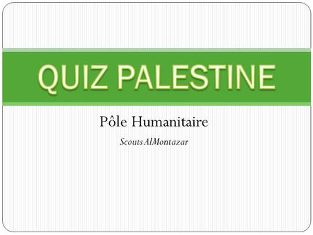 Pôle Humanitaire Scouts AlMontazar