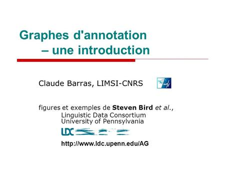 Graphes d'annotation – une introduction
