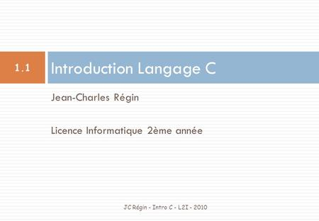 Introduction Langage C