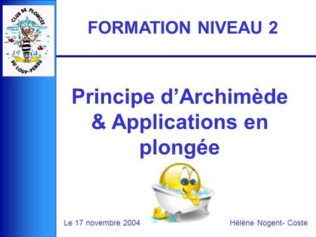 Principe d'Archimède & Applications en plongée