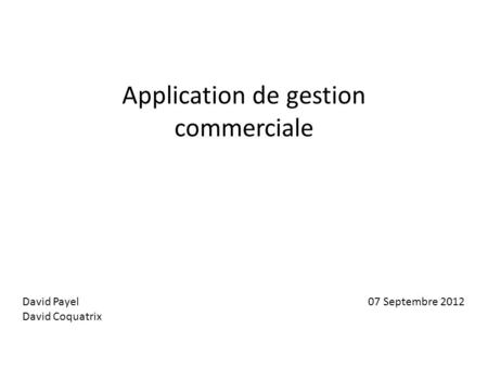 Application de gestion commerciale