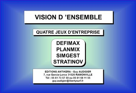 VISION D 'ENSEMBLE DEFIMAX PLANMIX SIMGEST STRATINOV