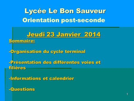 Orientation post-seconde