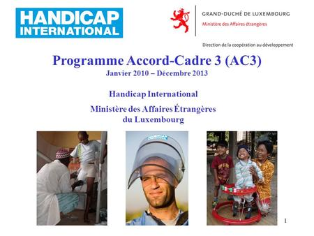 Programme Accord-Cadre 3 (AC3)