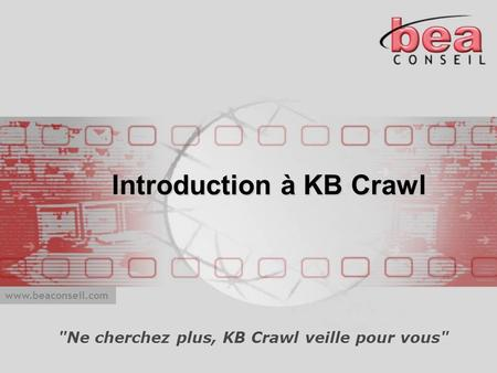 Introduction à KB Crawl