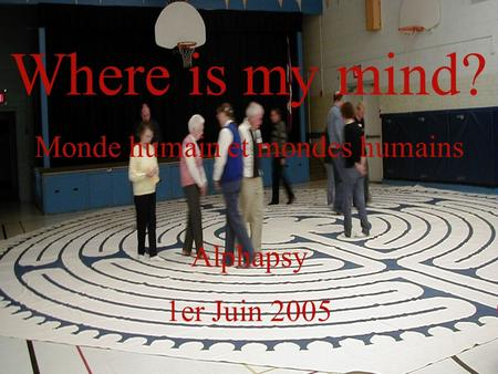 Where is my mind? Monde humain et mondes humains Alphapsy 1er Juin 2005.