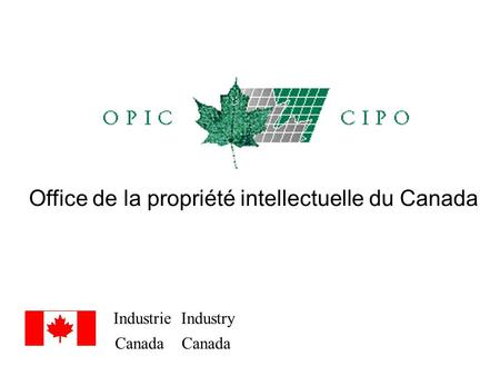 Industrie Industry Canada Canada