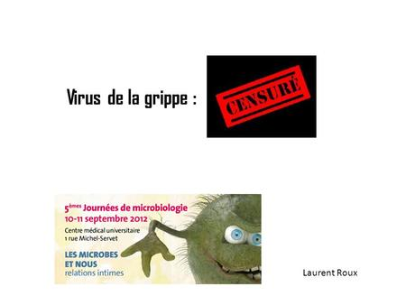 Virus de la grippe : Laurent Roux.
