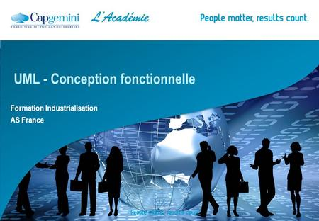Formation Industrialisation AS France UML - Conception fonctionnelle.