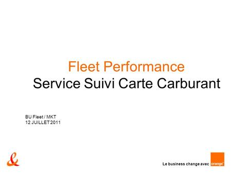 Fleet Performance Service Suivi Carte Carburant